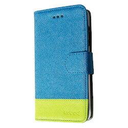 オウルテック iPhone SE用 手帳型ケース ブルー グリ