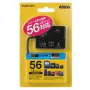 エレコム メモリリーダライタ/SD+MS+CF+XD/ブラック MR-A012BK メーカー在庫品