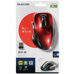 エレコム 5ボタン ワイヤレスBlueLEDマウス/Mサイズ/レッド M-XG1DBRD メーカー在庫品