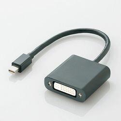 エレコム miniDisplayPort変換アダプタ/forAPPLE/DVI/ブラック AD-MDPDVIBK メーカー在庫品