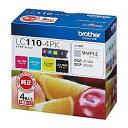 純正品 ブラザー インクカートリッジ 4色パック(B/C/M/Y) LC110-4PK (LC110-4PK) 目安在庫=○