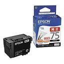 純正品 EPSON (エプソン) ICBK75 ビジネスインクジェット用 インクカートリッジ(ブラック) (ICBK75) 目安在庫=○