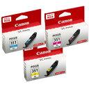 純正品 Canon キャノン 【純正インクセット】 大容量 3色セット(BCI-351XLC、BCI-351XLM 、BCI-351XLY) (BCI-351XLCMY) 取り寄せ商品