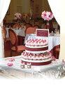 ウエルカムボードとして、プチギフトとして・・ウエディングケーキのように華やかウエディング ストロベリーケーキタオル2段(78個セット)