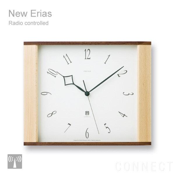 【取寄品】LEMNOS(レムノス) New Erias ( ニューイリアス ) 電波時計 掛時計 インテリア 木製 掛け時計