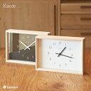 LEMNOS(レムノス) Kaede(カエデ) 奈良雄一 デザイン 時計 置時計 インテリア 木製 置時計/掛時計