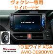AVIC-CE900VOCYBERNAVIカロッツェリア- サイバーナビ《ヴォクシー専用モデル》10V型ワイドXGA※MAユニット/通信モジュール/フロアカメラに対応