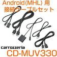 CD-MUV330carrozzeria/カロッツェリア Android(MHL)用接続ケーブルセットカーナビ用配線サイバーナビとスマホを接続