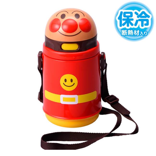 アンパンマンストロー付ダイカット水筒400ml保冷KK318キッズ食器/ストロー水筒/子供用水筒/プ