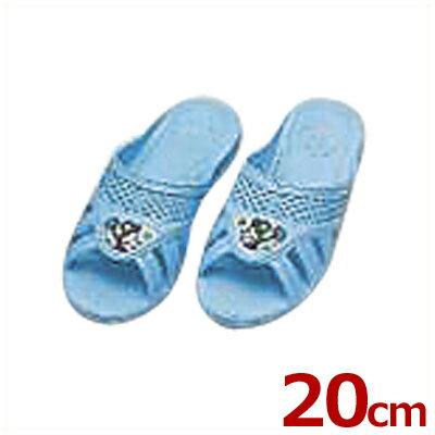 こども靴 子供用フィッティング漫画付サンダル ブルー 20cm 5号/キッズ スリッパ トイレ 水場