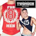 TWOMUCH トゥーマッチ ツーマッチ メンズファッション アメカジ タンクトップ メンズ スポーツ ジムウェア トレーニングウェア トップ..