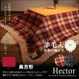 【送料無料】 羊毛入り 暖かみのあるチェック柄&もこもこシープボア 薄掛けこたつ掛布団 Hector:ヘクター 長方形 190x240cm 【 こたつ布団 こたつふとん 省スペース 】【RCP】