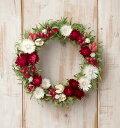 草原で見つけた妖精の花冠♪Coquelicot Rouge☆オトナかわいい赤と白のナチュラルリース。ナチュラルなグリーンと赤のドライフラワーリース、大人カワイイ、シンプルリース。妖精の花冠みたいな可愛いリース【楽ギフ_包装】 【楽ギフ_のし宛書】