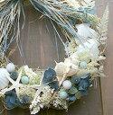 海を楽しむシェルリース ★ ラ・メール / 1年中海を感じていたいから、ドライフラワーと貝殻を使ったリースを飾ろう♪ハワイ サマーインテリア / 西海岸インテリア / サーフ / ...
