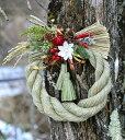 しめ飾り しめ縄 お正月飾り お正月リース 注連 しめ飾り☆白い花のお正月飾り☆しめ縄リース 人気のしめ飾り