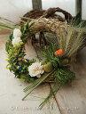 手作りキット★干し草の良い香り♪ナチュラルカントリーな麦のリースキット