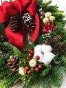 【クリスマスリース】【リース】【クリスマス】【玄関】フレッシュオレゴンモミのクリスマスリース☆直径25cm