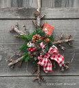 【クリスマスリース】【リース】【玄関】ドライフラワーリース★カントリークリスマスリース★小枝で作った雪の結晶★Flocon de neige de Noel