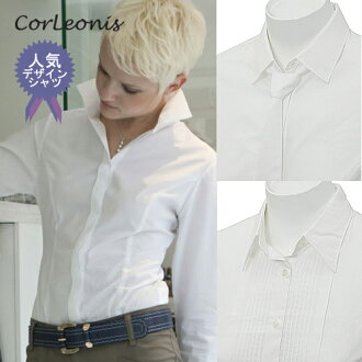 Convenient Office fashion blouse long-sleeved white blouse! Blouse long sleeve ( white shirt-blouse / women's shirts / pintuck / bowtie / Queen color / white shirt / plain / uniform )