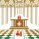 気音間 注染手ぬぐい Christmas Chapel【メール便可】/手ぬぐい/てぬぐい/手拭い/クリスマス/サンタ/冬/12月/和柄