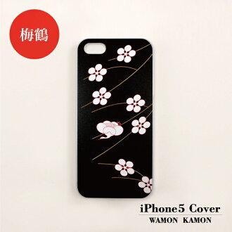 iPhone5 cover WAMON plum crane