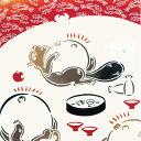 気音間 注染手ぬぐい 満福【メール便可】/手ぬぐい/てぬぐい/手拭い/狸/たぬき/満腹/ぽっこり/ぽ