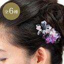 バレッタ三連桜863 夏祭り 浴衣 髪飾り/ヘアアクセサリー/和風