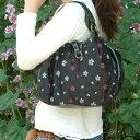 私アピールのモダンテイスト和柄バッグ(和雑貨コラゾン)◆レトロフラワーハンドバッグ●