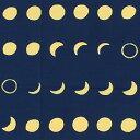 梨園染手ぬぐい 月の満ち欠け【メール便可】手ぬぐい/てぬぐい/手拭い/和柄/注染/月/月見/中秋の名