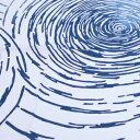 梨園染手ぬぐい 渦巻【メール便可】手ぬぐい/てぬぐい/手拭い/和柄/うずまき/渦巻/渦巻文/縄文/水/海/夏/波紋【10P03Dec16】