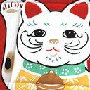 ショッピング座布団 梨園染手ぬぐい 招き猫 赤 360【ネコポス可】手ぬぐい/てぬぐい/手拭い/和柄/縁起物/縁起柄/招き猫/まねきねこ/吉/一攫千金