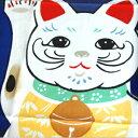 梨園染手ぬぐい(手拭い・てぬぐい) 招き猫 紺 361/てぬぐい/和/和雑貨/季節手ぬぐい/インテリ