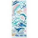 【ネコポス可】 気音間 手ぬぐい 深海魚 注染 特岡 綿100% 日本製 夏 縦柄 生き物 海 深海魚 魚 3...