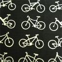 【7月20日までポイント10倍!】梨園染手ぬぐい 自転車・黒...