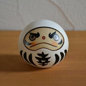 卯三郎こけし 幸福だるま 白(Happiness Daruma doll