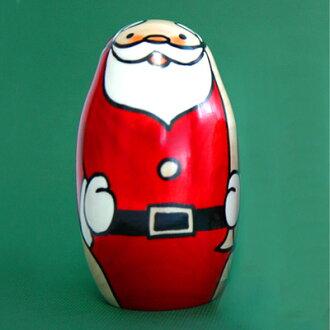 Usaburo Kokeshi 快樂聖誕老人 (小) (耶誕節) KOKESHI/日本/娃娃/傳統電位差 / Kokeshi 公仔 / 苔蘚 / 日本 / 公仔 / 傳統 / 日本 / 日本貨物