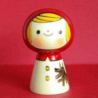 Usaburo Kokeshi 娃娃紅色騎罩 KOKESHI/日本/娃娃/傳統電位差 / Kokeshi / 苔蘚 / 日本 / 公仔 / 傳統 / 日本 / 日本小玩意
