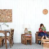 送料無料 チーク【パーラ】サイドテーブル3点セット アジアン家具