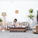 ★送料無料 【パボニア】コーヒーテーブル アジアン家具 センターテーブル リビングテーブル テーブル 机 木製 収納 座卓 ブラウン バリ家具