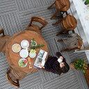 送料無料 アジアン バリ 5点セット 食卓 家具 ダイニ
