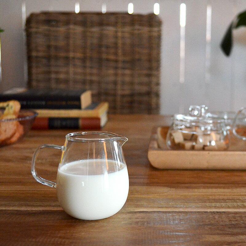 UNITEAミルクピッチャーミルク入れクリーマーミルクポット食器しょっきブランド食器ガラスガラス製お