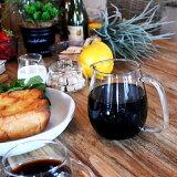 あす楽対応! UNITEA ジャグ(Lサイズ) ウォーターピッチャー 水差し ウォータージャグ おしゃれ デザイン シンプル かわいい ガラス食器 ワイン カラフェ ジュース KINTO キント 食器洗浄対応 電子レンジ対応 耐熱ガラス ガラス