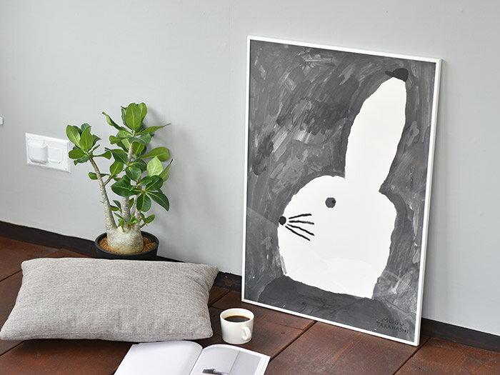 ポスター 北欧 Fine Little Day ファインリトルデイ ポスター うさぎ ウサギ RABBIT WITH SMALL HAT 50×70cm おしゃれ かわいい 北欧インテリア