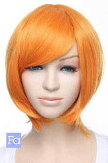 短鮑勃鮑勃假髮短假髮 cosplay 假髮橙色橙色橙色顏色熱 240 ° C (032 博-t 1150)