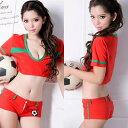 コスプレ セクシー衣装 サッカーガール なでしこ 女子サッカー ユニフォーム 赤 コスプレ衣装 ステ