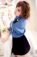 肩ロープ付き・タイトスカートがセクシーなミニスカ婦人警官