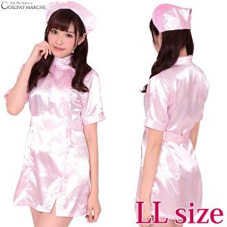 古裝戲護士<馬上可以使用的★優惠券><2L尺寸/XL尺寸>護士服粉紅性感萬聖節護士古裝戲服裝服裝古裝戲護士護士maru-b18127