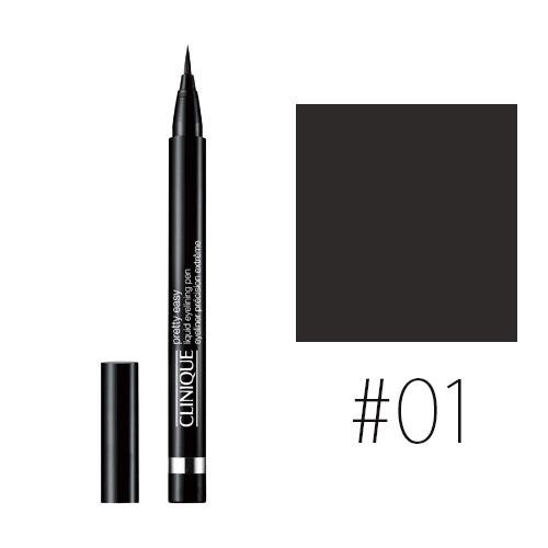 クリニーク 【#01】プリティ イージー リキッド アイライニング ペン #ブラック 0.67g 【メイクアップ アイメイク リキッド 黒 目力 描きやすい】【CLINIQUE】【W_13】【再入荷】