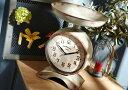 【フランス直輸入】置き時計 アンティーク調 はかり型 2つの文字盤 デュアルタイム