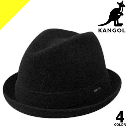 KANGOL カンゴール ハット 帽子 メンズ レディース ワンポイント 中折れ ウール カジュアル 大きいサイズ おしゃれ 黒 ブラック Wool Player 167169009